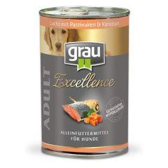 grau - Nassfutter - Excellence Adult Lachs mit Pastinaken & Karotten 6 x 400g (getreidefrei)