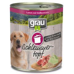 grau - Nassfutter - Schlemmertopf Lamm mit Vollkornreis 6 x 800g
