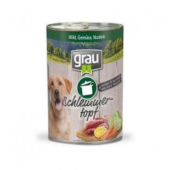 grau - Nassfutter - Schlemmertopf Wild, Gemüse und Nudeln 6 x 400g
