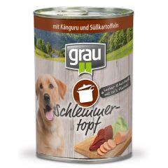 grau - Nassfutter - Schlemmertopf mit Känguru und Süßkartoffeln (getreidefrei)