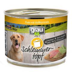 grau - Nassfutter - Schlemmertopf Pute mit Vollkornreis 6 x 200g