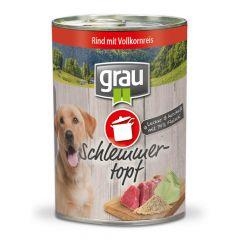 grau - Nassfutter - Schlemmertopf Rind mit Vollkornreis 6 x 400g