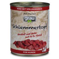 grau - Nassfutter - Schlemmertopf Rind mit Vollkornreis