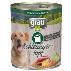 grau - Nassfutter - Schlemmertopf Wild, Gemüse und Nudeln 6 x 800g
