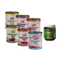 grau - Nassfutter - Premium Schlemmertopf Paket mit 24 x 800g + Snack