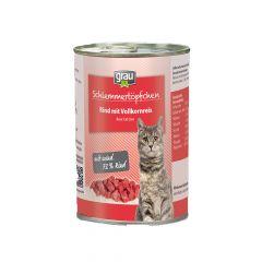 grau - Nassfutter - Schlemmertöpfchen Rind mit Vollkornreis 6 x 400g