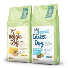 Green Petfood - Trockenfutter - Vorteilspaket InsectDog hypoallergen & VeggieDog light 2 x 15kg