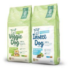 Green Petfood - Trockenfutter - Vorteilspaket VeggieDog grainfree & InsectDog hypoallergen 2 x 15kg