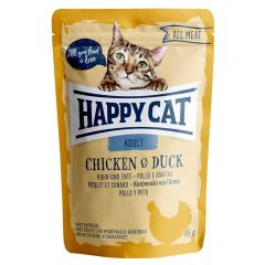 Happy Cat - Nassfutter - All Meat Adult Huhn & Ente Pouches