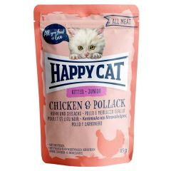 Happy Cat - Nassfutter - All Meat Junior Huhn & Seelachs Pouches