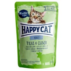 Happy Cat - Nassfutter - All Meat Adult Kalb & Lamm Pouches