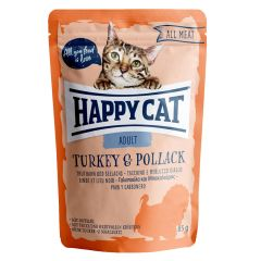 Happy Cat - Nassfutter - All Meat Adult Truthahn & Seelachs Pouches