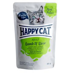 Happy Cat - Nassfutter - Meat in Sauce Adult Lamm & Leber Pouches