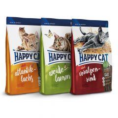 Happy Cat - Trockenfutter - Supreme Vorteilspaket 3 x 4kg