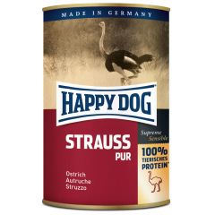 Happy Dog - Nassfutter - Single Protein Strauß Pur (getreidefrei)