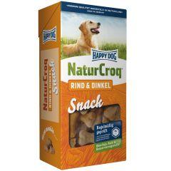 Happy Dog - Kausnack - NaturCroq Snack Rind und Dinkel