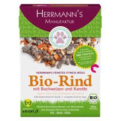 Herrmann's - Trockenfutter - Fitnessmüsli Bio-Rind mit Buchweizen und Karotte (getreidefrei)