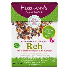 Herrmann's - Trockenfutter - Fitnessmüsli Reh mit Kartoffelflocken und Karotte (getreidefrei)