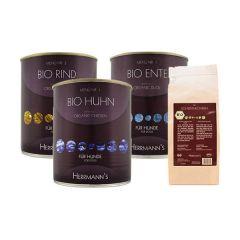 Herrmann's - Nassfutter - Bio Premium Paket mit 18 x 800g + Snack