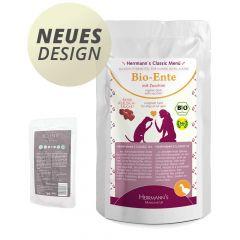 Herrmann's - Nassfutter - Bio-Ente mit Zucchini (getreidefrei)