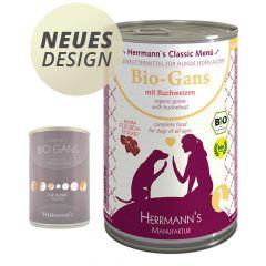 Herrmann's - Nassfutter - Bio-Gans mit Buchweizen (getreidefrei)