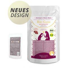 Herrmann's - Nassfutter - Bio-Gans mit Süßkartoffeln (getreidefrei)