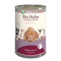 Herrmann's - Nassfutter - Selection Sensibel Bio-Huhn mit Karotte und Reis (glutenfrei)