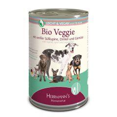 Herrmanns - Nassfutter - Vegan Bio-Veggie mit weißer Süßlupine, Dinkel und Gemüse