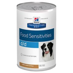 Hill's - Nassfutter - Prescription Diet Canine Food Sensitivities d/d mit Lamm und Reis