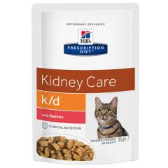Hill's - Nassfutter - Prescription Diet Feline Kidney Care k/d mit Lachs