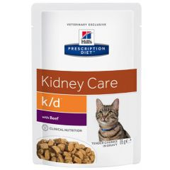 Hill's - Nassfutter - Prescription Diet Feline Kidney Care k/d mit Rind