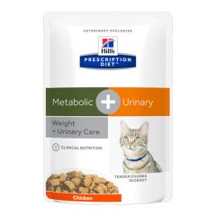 Hill's - Nassfutter - Prescription Diet Feline Metabolic + Urinary Weight & Urinary Care Huhn