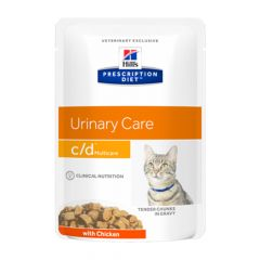 Hill's - Nassfutter - Prescription Diet Feline Urinary Care c/d Multicare mit Huhn