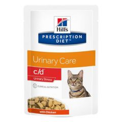 Hill's - Nassfutter - Prescription Diet Feline Urinary Care c/d Urinary Stress mit Huhn