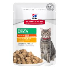 Hill's - Nassfutter - Science Plan Feline Adult Perfect Weight mit Huhn