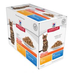 Hill's - Nassfutter - Science Plan Adult Light Multipack mit Huhn und Seefisch