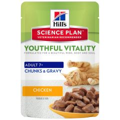 Hill's - Nassfutter - Science Plan Feline Adult 7+ Youthful Vitality Huhn