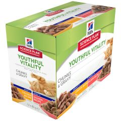 Hill's - Nassfutter - Science Plan Feline Adult Multipack Youthful Vitality mit Huhn & Lachs