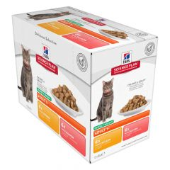 Hill's - Nassfutter - Science Plan Feline Adult Multipack Perfect Weight mit Huhn & Lachs