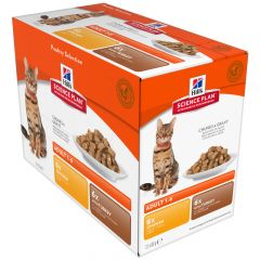 Hill's - Nassfutter - Science Plan Feline Adult Multipack Optimal Care mit Huhn & Truthahn