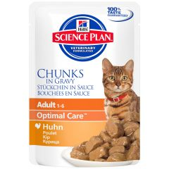 Hill's - Nassfutter - Science Plan Feline Adult Optimal Care Huhn