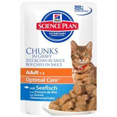 Hill's - Nassfutter - Science Plan Feline Adult Optimal Care mit Seefisch