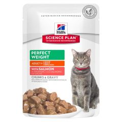 Hill's - Nassfutter - Science Plan Feline Adult Perfect Weight mit Lachs