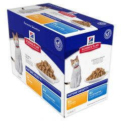 Hill's - Nassfutter - Science Plan Feline Mature Adult Multipack Huhn & Seefisch