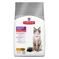 Hill's - Trockenfutter - Science Plan Feline Adult Sensitive Stomach & Skin Huhn