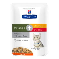 Hill's - Nassfutter - Prescription Diet Feline Metabolic + Urinary Stress Huhn