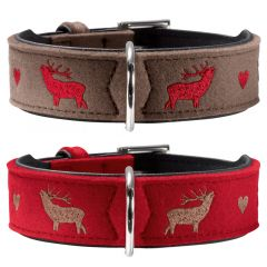 Hunter - Hundehalsband - My Deer aus Filz mit Hirsch-Stickerei