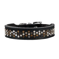 Hunter - Hundehalsband - Basic Rivellino-L-65-Schwarz/ Schwarz