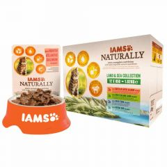 Iams - Nassfutter - Naturally Adult Land & Sea Collection Multibox