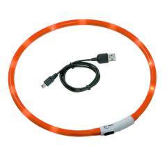 Karlie - Hundezubehör - Leuchthalsband Visio Light Orange